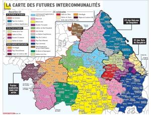 carte 2017 des intercommunalités